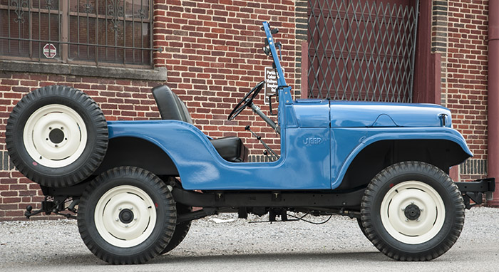 Willys Jeep on Backroad Gold