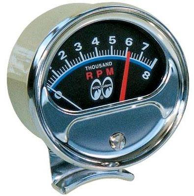 Mooneyes Tachometer | Half Sweep 8000 RPM-0