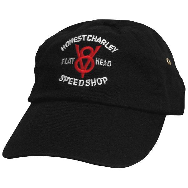 Honest Flathead V8 Speed Shop Cap | Black-0