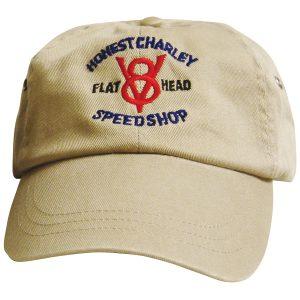 Honest Flathead V8 Speed Shop Cap | Khaki-0