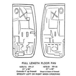 Floor | Full Length Floor Pan | Passenger Side-0