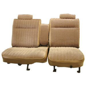 Upholstery | 1981-87 Vinyl/Velour Seat Set | Front & Rear -0