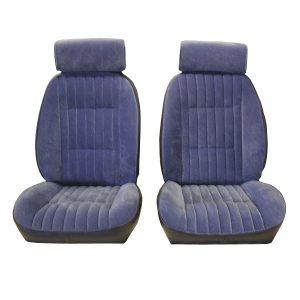 Upholstery | 1981-88 Vinyl/Velour Seat Set | Front & Rear -0