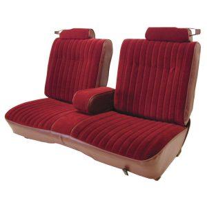 Upholstery | 1981-87 Vinyl/Velour Seat Set | Front & Rear-0