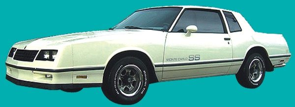 Decals | Monte Carlo SS Stripe Kit | 1983-84 | Tri-Color Blue-0