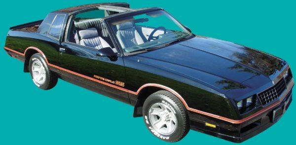 Decals | Monte Carlo SS Stripe Kit | Maroon with Orange | 1985-86-0