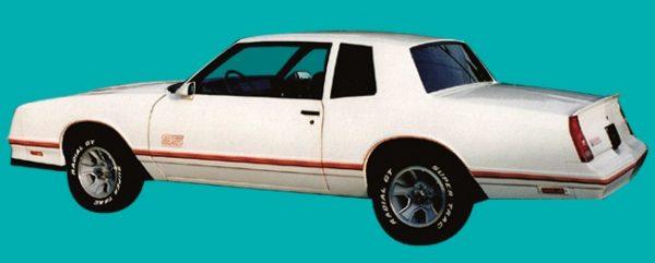 Decals | Monte Carlo SS Stripe Kit | 1987-88 | Tri-Color Gold -0