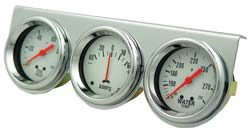 Gauge Set | Triple with Ampmeter | Chrome-0