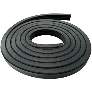 Rubber Seal Oval | Half-Round Shape with Hollow Core | 5/8X3/8-0