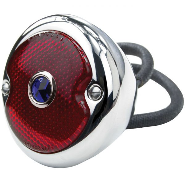 Tail Lamp | Stainless, Blue DOT Left | 1933-36 Ford-0
