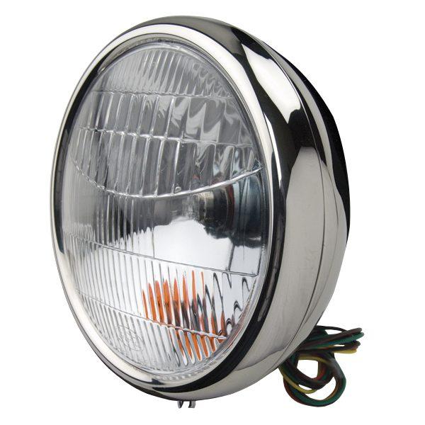 Headlamp | Pair Stainless 1932 QTZ 12V | Ford Script-0
