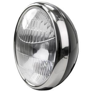 Headlamp 1932 Ford Script no Turn Signal | Black Housing-0
