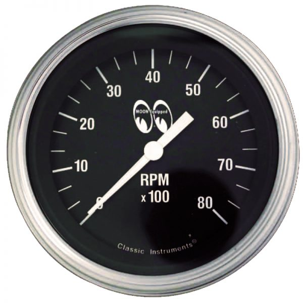 Tachometer 8000 RPM 3 3/8 Black | Mooneyes-0
