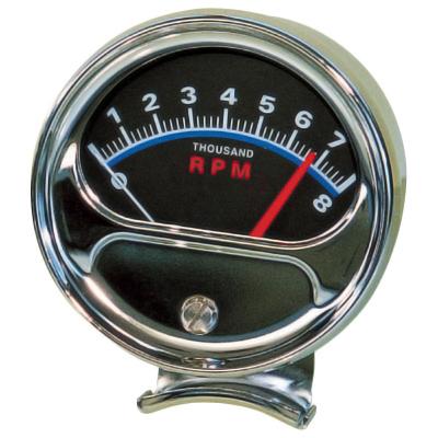 Tachometer   Half Sweep 8000 RPM Redline-0