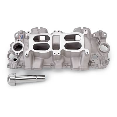 Edelbrock 5408 | Dual Quad Intake Manifold For 409 Chevy | Small Port-0