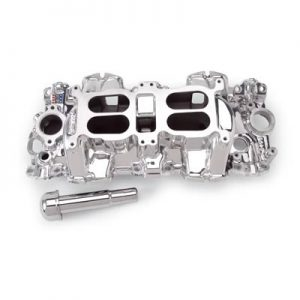 Edelbrock 54094 | Performer RPM Dual Quad Intake Manifold For 409 Chevy | Large Port | EnduraShine Finish-0