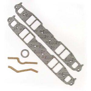 Small Block Chevy Intake Gasket SBC Medium Port 1/8 inch Thick-0