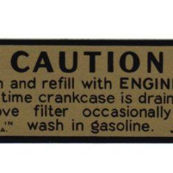1932-48 Oil Bath Air Cleaner Decal-0