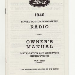 1940 Ford Radio Owners Manual-0