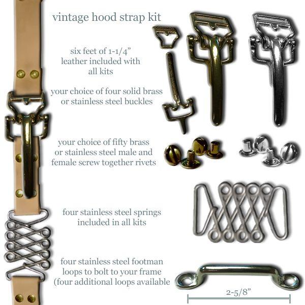 Vintage Hood Strap Kit Brass-0