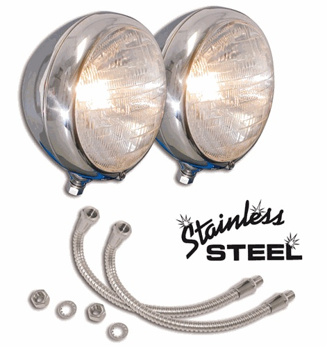High Boy Headlight Stands Stainless Steel -0