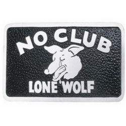 """""""Lone Wolf"""" Plaque-0"""