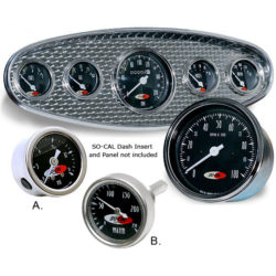 SO-CAL 200mph speedo | 10,000rpm Tach and other Gauges Set 5 Piece-0