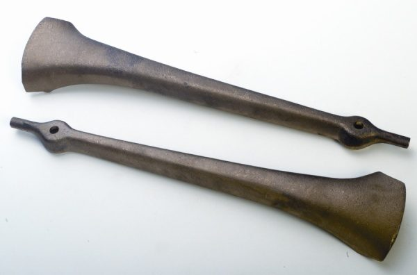 Stanchions Bronze Lower with Shield-0