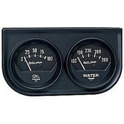 Dual Gauge Console Oil and Water Black-0
