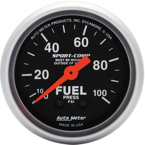 Gauge Fuel PSI 100 2 1/16-0