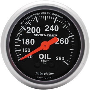 Gauge Oil Temperature 2 1/16-0