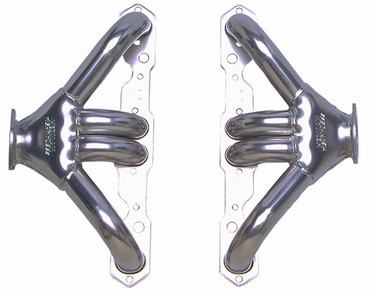 HTC Small Block Chevrolet Header | Coated-0