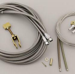 Lokar Floor Mount Emergency Brake Cable Kit-0