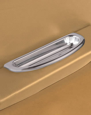 Billet Aluminum Crescent Oval Arm Rest Door Pulls-0