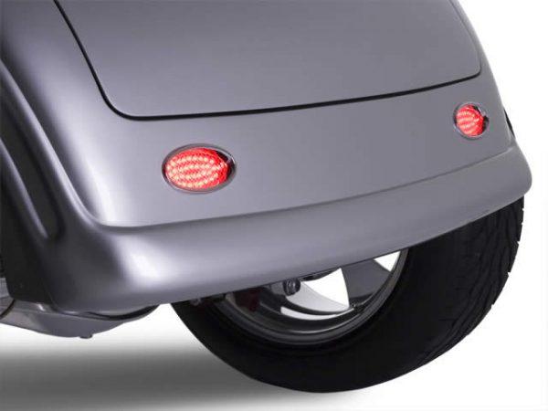 Lokar Billet Aluminum Oval LED Taillights   Chrome-6786
