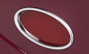 Lokar Billet Aluminum Oval LED Taillights   Chrome-0