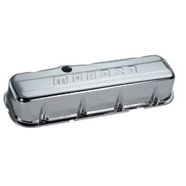Stamped Steel Valve Covers | Big Block Chevy | Tall Design | with o baffles | Chrome-0