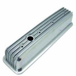 Small Block Chevy Finned Aluminum Center Bolt Valve Covers--Tall-0