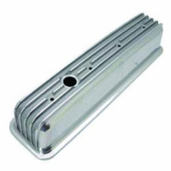 Small Block Chevy Finned Aluminum Center Bolt Valve Covers-0