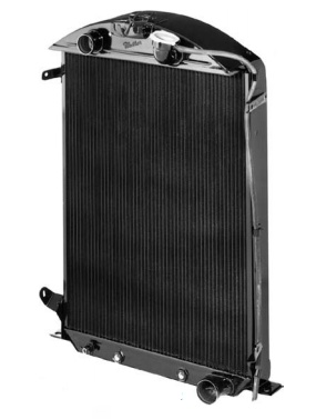 1932 Ford Radiator | Fits Small Block Chevy with Automatic Transmission-0