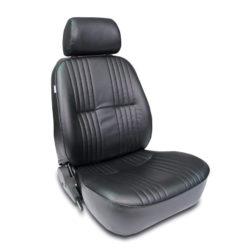 Low Back Bucket Seat | Black Vinyl | Driver Side-0