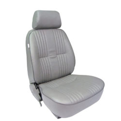 Low Back Bucket Seat | Gray Vinyl | Passenger Side-0