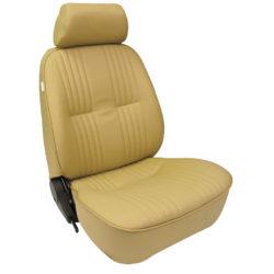 Low Back Bucket Seat | Beige Vinyl | Driver Side-0