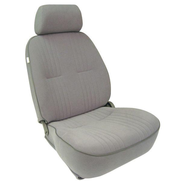 Low Back Bucket Seat | GrayVelour | Driver Side-0