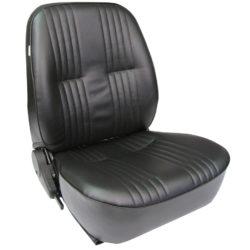 Low Back Bucket Seat | Black Vinyl | Passenger Side-0