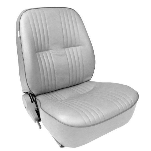 Low Back Bucket Seat | Gray Vinyl | Driver Side-0