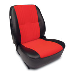 Low Back Bucket Seat | Black/Red | Driver Side-0