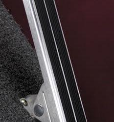 Lokar Floor Mount Throttle Pedal with Rubber Insert-0