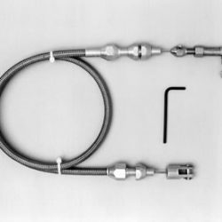 Lokar Braided Stainless Steel Throttle Cable | 36 inch-0