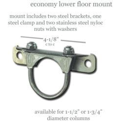 Economy Lower Steering Column Mount   1 3/4 inch-0